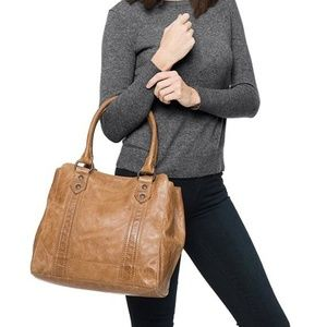 Frye NWT Melissa Oiled Leather Tote, Tablet Pocket